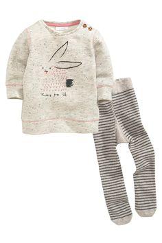 Acheter Gris Lapin Top Et Collants Set (0-18mths) à partir de la boutique en ligne Next Royaume-Uni