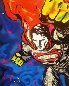 Buy Original Artwork at Artwork Only - Million Dollar Superman by Sanuj Birla
