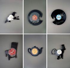 deko aus schallplatten es gibt ganz verschiedene ideen