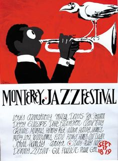 Monterey Jazz Festival poster, with trumpet