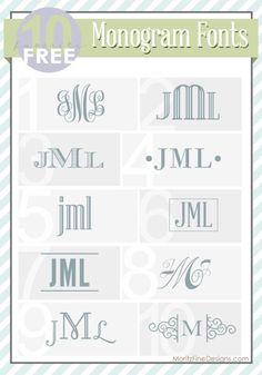 Monogram Fonts.