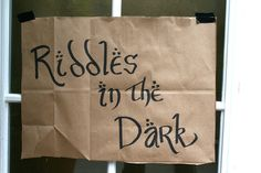 Riddles in the dark activity with Gollum