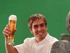 Philip Lahm, the captain. I think this is a beer ad haha