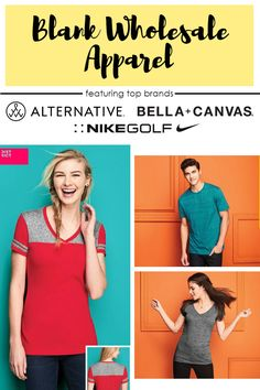 Browse from hundreds of blank wholesale apparel and accessories from popular brands like Alternative, Bella + Canvas, Gildan, Nike Golf, and much more -- all on wholesale prices.