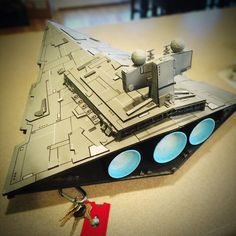Crazy4ComicCon's #diy Star Destroyer fro Star Wars.