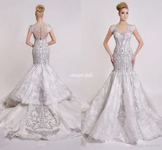 Buy wholesale dar sara luxury formal mermaid 2016 wedding dresses crew neck illusion back beads stone mermaid bling lace short sleeve bridal wedding gowns which is at a discount now. sweet-life has guaranteed its quality. cheap wedding dress, cheap wedding dresses online and corset wedding dresses are all in the list of superb dresses.