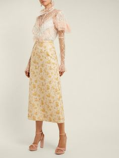 The Vampire's Wife Biba A-line brocade skirt
