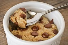 Single Serving Deep Dish Cookie A La Mode - microwaveable chocolate chip cookie! Single Serve Desserts, Just Desserts, Delicious Desserts, Yummy Food, Mug Recipes, Sweet Recipes, Cookie Recipes, Dessert Recipes, Eggless Recipes