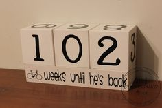 Missionary Countdown Blocks @vinylexpresions