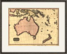Australia map vintage Map print old map Antique prints poster map decor home decor wall map decor map wall art large map print Map Wall Decor, Map Wall Art, Large Wall Art, Asia Map, Australia Map, Photo Maps, Antique Prints, Custom Posters, Custom Framing