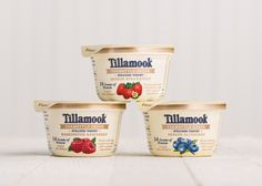 Packaging design and promotions for Tillamook. Yogurt Packaging, Dairy Packaging, Ice Cream Packaging, Milk Packaging, Luxury Packaging, Beverage Packaging, Packaging Design, Bright Nail Designs, Yogurt