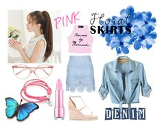 Sweet Denim by jeyjulia4 on Polyvore featuring Topshop, Oxford Ivy, Raye, Prism, men's fashion, menswear, Pink, denim, Blue and lovely