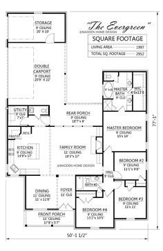 Evergreen Acadian Style House Plan By Madden Home Design, Roof 9/12 Width 50