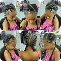 Cute girls french braids