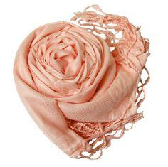 "Soft and Silky Beautiful Viscose Pashmina Peachpuff Shawl/ Wrap 28"" X 78"" Peach Couture. $9.95"