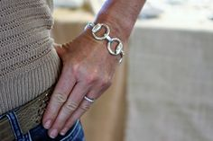 Caracol - Inspired Jewelry and Handbags - Sterling Silver Grande Bit Bracelet, $199.00 (http://www.caracolsilver.com/sterling-silver-grande-bit-bracelet/)