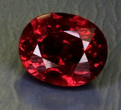 """""""3.03ct Oval Ruby,"""" Winza, Tanzania, purplish red. ©All That Glitters. Used with permission."""