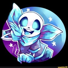 Ok here is adorable sans from underswap ,he is cute. So in this art i use water colour digital block.