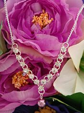 Pearls & Crystals Jewelry | Bridesmaid wedding crystal chain necklace