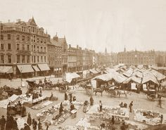 Market Square showing the old market stalls, also the site of the original Goose fair