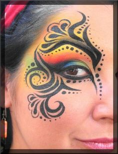 Rainbow Swirl Kids Face Paint