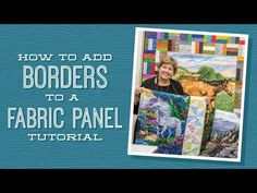 MSQC Tutorial - Panels with Borders Quilt