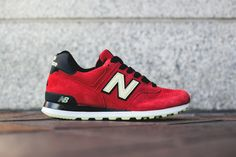 #NewBalance Made in USA M574 Red/Black/White #sneakers