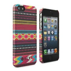 Amazon.com: Roxy iPhone 5 Protective Hard Shell Snap-On Back Case Cover - Aztec: Cell Phones & Accessories