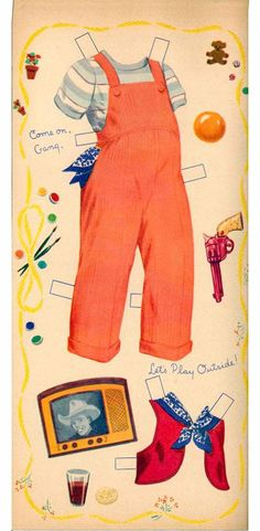 SUNBONNET SUE Paper Doll  from 1951 Whitman #2062 <<>> 4 of 7