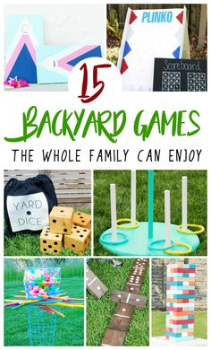 DIY Backyard Games the whole family can make and enjoy all summer long. Create Exciting Backyard Games with this simple DIY projects tutorial. Summer, Backyard Games, DIY, Family Time, Tutorial, Projects, Backyard, Parties, BBQ's, Family Activities, Activities, Games, Fun