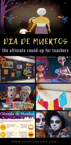 Holiday crafts Videos - Day of the Dead Activities and Resources for the Spanish Classroom Spanish Teacher, Spanish Classroom, Teaching Spanish, Preschool Classroom, Middle School Spanish, Elementary Spanish, Elementary Science, Upper Elementary, Spanish Lesson Plans