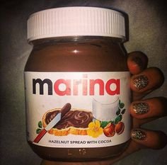 Marina exchanged drips by nutella? *laughs*