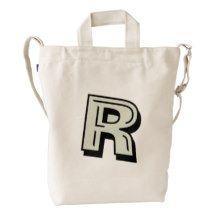 Custom #Monogram #BAGGU Duck Bag Canvas Bag