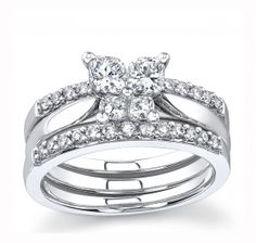 butterfly wedding set - Butterfly Wedding Rings
