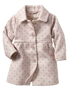 adorable baby coat with tiny neon pink stars