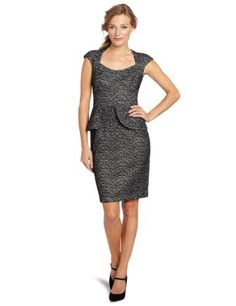 Maggy London Women's Boucle Peplum Dress, Black/White, 4 Maggy London,http://www.amazon.com/dp/B007XTKWLI/ref=cm_sw_r_pi_dp_TrO7qb11YHY92X7A