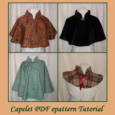 Looking for the finishing touch for your medieval ensemble? Need outerwear to go with a Regency or Victorian outfit? Want to look like you