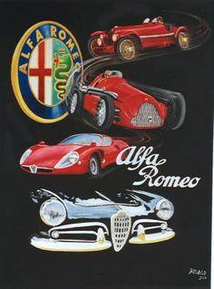 Best Joe Desira Showroom Images On Pinterest Vintage Cars - Alfa romeo poster