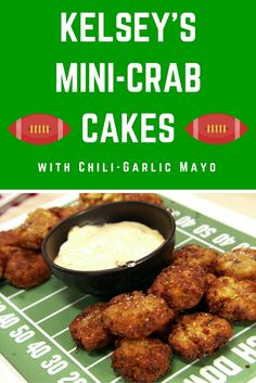 Chow down on crowd-pleasing game day appetizers like these Crab Cake Croquettes >> http://www.ulive.com/video/kelseys-mini-crab-cakes-with-chili-garlic-mayo