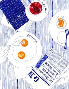 Happy Sunday Morning! today we are taking inspiration from illustrator Carine Brancowitz...