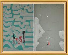 Mafonso disegni works 2013 dittico su cartone pressato cm 140x100 courtesy dirartecontemporanea 2.0