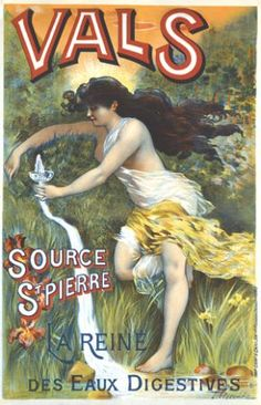 Vals Source St Pierre La Reine Eaux Digestives - Mad Men Art: The Vintage Advertisement Art Collection Vintage French Posters, Art Vintage, Vintage Ads, Vintage Prints, French Vintage, Vintage Stuff, Vintage Travel, Vintage Signs, Retro Advertising