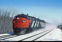 RailPictures.Net Photo: CN 6525 Canadian National Railway EMD FP9 at Brucy, Quebec, Canada by Marty Bernard