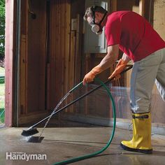 From The Family Handyman Remove Paint From Concrete, Cleaning Concrete Floors, Clean Concrete, Concrete Driveways, Garage Storage, Oven Cleaning, Car Cleaning Hacks, Mattress Cleaning, Deep Cleaning Tips