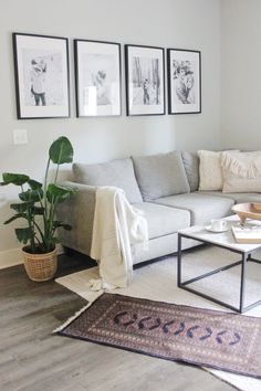 Simple gallery wall using RIBBA IKEA frames. Classic black and white family photos. Home, home decor Picture Wall Living Room, Living Room Photos, Living Room Gallery Wall, Picture Walls, Living Room Wall Ideas, Photo Walls, Ypperlig Ikea, Ikea Desk, Ikea Gallery Wall