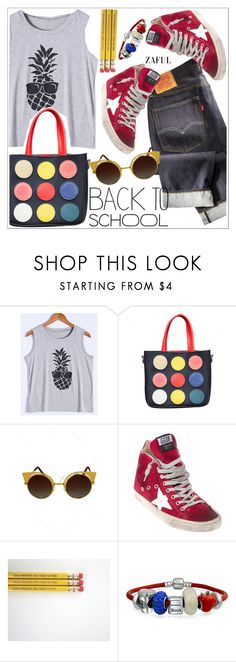 """""""Back to school"""" by teoecar ❤ liked on Polyvore featuring Golden Goose, Bling Jewelry and zaful"""