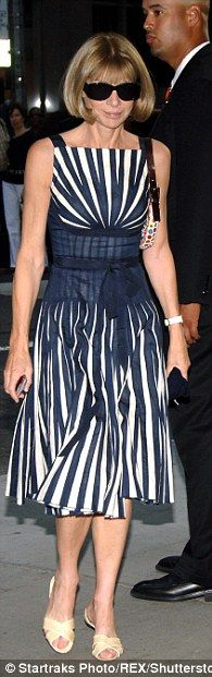 Fashion friends: Blahnik says he has a lot of affection for Anna, who is 'divine', 'loyal', and 'normal' (pictured in 2006)