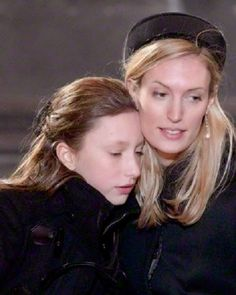 (L) Belgian Princess Laetitia Maria and her sister in-law Princess Elisabetta Maria attend the funeral ceremony of Queen Fabiola at the Saint Michael and Saint Gudula Cathedral in Brussels on 12.12.2014