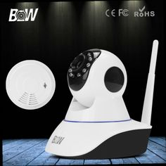 51.68$  Watch here - http://aliy8r.worldwells.pw/go.php?t=32588525638 - BW PTZ HD 720P IP Camera Wireless Smart P2P for Android IOS WIFI Home Burglar Smoke Detector Alarm Security Video Alarm Systems