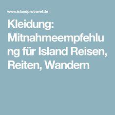 Kleidung: Mitnahmeempfehlung für Island Reisen, Reiten, Wandern
